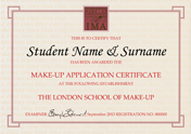 Make-up Application Certificate