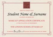 Make-up Application Certificate