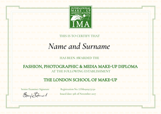 Fashion / Photographic / Media Make-up Diploma
